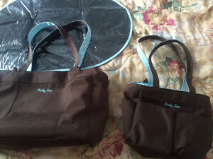 Diaper bag+botle bag with 2 changing pads