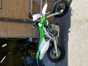 KX450 supermoto, street plated motard