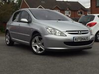 2003 Peugeot 307 2.0 HDi D-Turbo 5dr (a/c) LEATHER + CRUISE CONTROL + 12 MONTHS MOT not astra megane