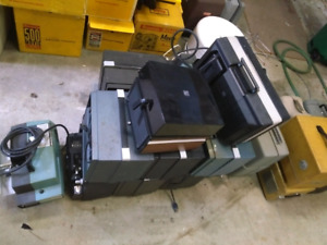 Vintage Bell & Howell, Revere, and Keystone Projectors