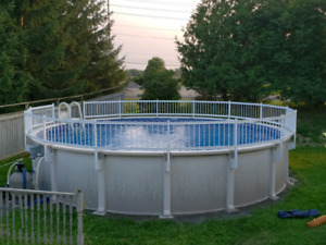 24' above ground pool