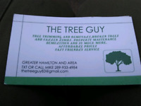TREE GUY. PROFESSIONAL TRIMMING AND REMOVALS SINCE 1998
