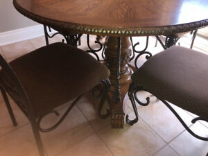 HOT DEAL ASHLEY DESIGNER TABLE WITH FOUR CHAIRS.