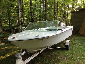 14.5 ft runabout/50Hp
