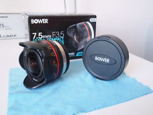Bower 7.5mm F3.5 Micro 4/3 Ultra Compact Fisheye Lens