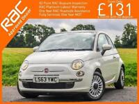 2013 Fiat 500 1.2 Lounge 5 Speed Sunroof Bluetooth Air Con Only 16,000 Miles Ful