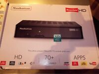 FREEVIEW HD BOX, as New, boxed with Remote, HDMI cable, & instructions