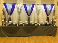 Chair Cover, Tablecloth, Backdrops - Wedding Decor for Rent