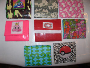 **Duct Tape Accordian Wallets** (Great Stocking Stuffers)