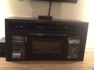 Tv unit with electric fireplace $475.00