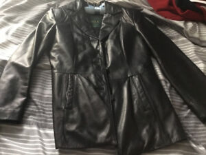 Leather Jacket size small 4/6