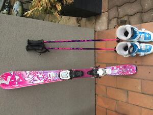 K2 LuvBug 112 skis with boots