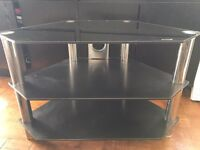 Black glass (safety) TV stand