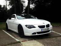 BMW 645 4.4 Ci AUTOMATIC WHITE WITH BLACK GLASS PANORAMIC ROOF PX SWAP SWOP
