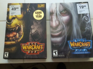 WARCRAFT 3 reign of chaos and FROZEN THRONE