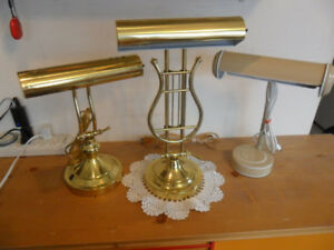 FANCY  PIANO  LAMPS   for  your  Desk or  Piano  416-483-1730