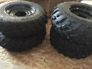 Atv tires on rims size in picture