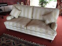 2 x (Like new) Regency Stripe two seater sofas
