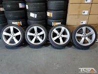"19"" Silver TTRS Style Alloy Wheels & Tyres for an Audi A4 TT Etc"