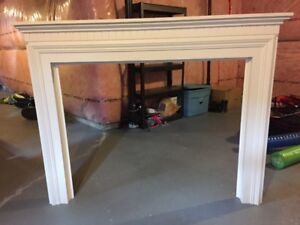 Fire place mantle and marble frame