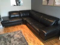 Leather Corner Suite and Cuddler Swivel Chair