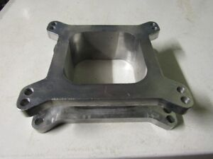 Carburetor Spacer  Aluminum Holley AFB Edelbrock Demon Squareb