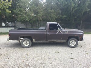 79 Chevy K10 4x4 Pickup for parts or restore