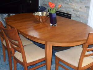 Dining set: table and six chairs