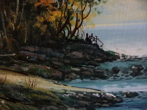"""Forest Sanctuary, Landscape by Paul Cho """"Woodland Stream"""" 1970's Stratford Kitchener Area image 9"""