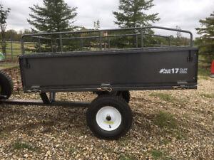 2017 Bluehawk 17 cu ft yard trailer