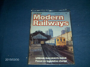 MODERN RAILWAYS-2 RARE BACK ISSUES-1984-INCLUDES PICTORIAL