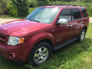 2008 Ford Escape Red SUV, Limited Edition 3.0L/4X4 Leather Seats