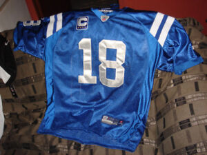 MINT CONDITION PEYTON MANNING JERSEY, EMBROIDERED REEBOK VERSION