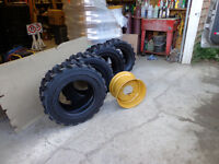 TIRE RIM NEW for skid steer bobcat 12-16.5 & 10-16.5 supertracti