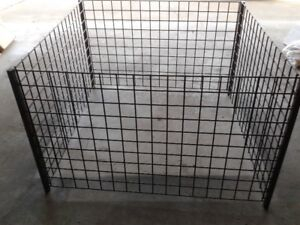 Heavy duty metal pane cage