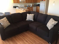 Like New Microfibre Sectional Couch - OFFERS CONSIDERED