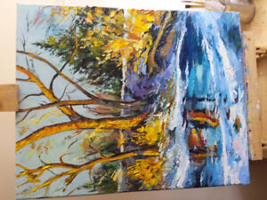 Real Oil painting 40x50cm
