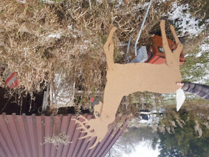 Horse drawn sleigh and 9 reindeer