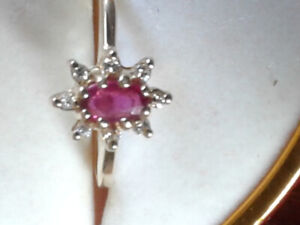 Very sweet 14k Ruby and diamond ring.