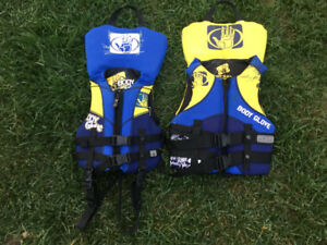 Child and Youth Body Glove Life Jackets
