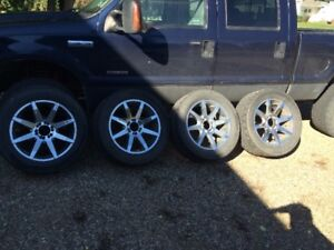 "20"" kmc slide wheels with nitto 420 tires"