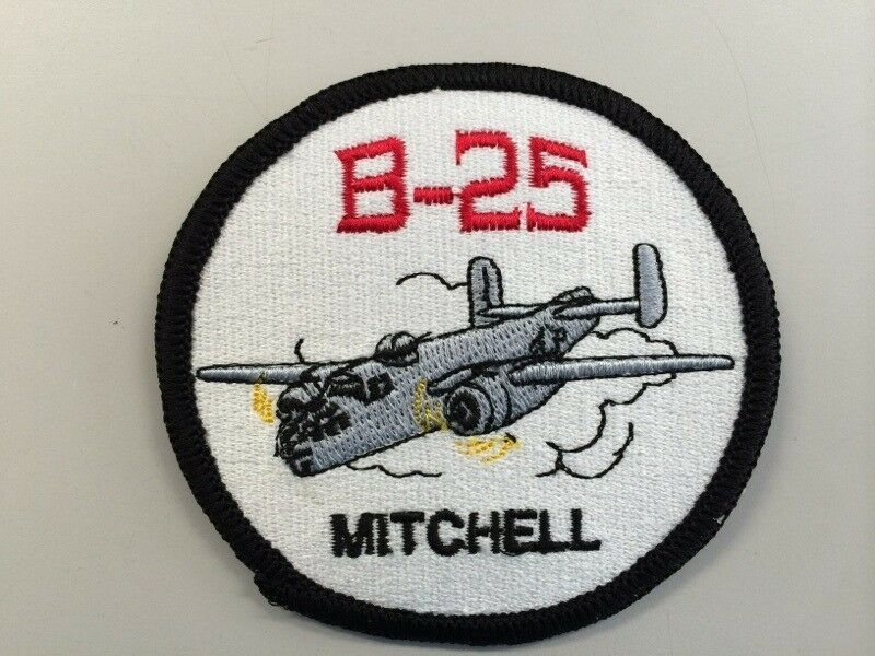 B-25 Mitchell Aircraft USA Made Patch WWII Airplanes