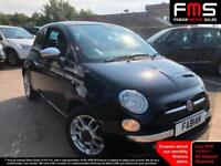 2011 Fiat 500 1.2 69bhp Dualogic LOUNGE *Pan Roof - Red Interior - Low Miles*