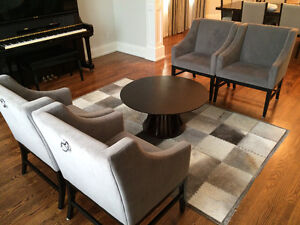 Living Room Chairs, Coffee Table and Rug