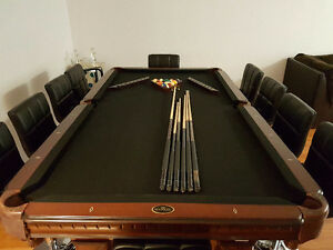 Pool table  can be used as dinning room table