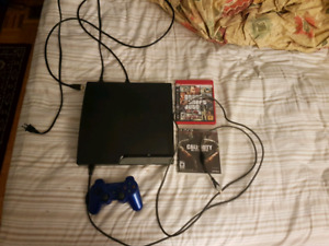PS3 Slim 1 controller 2 games