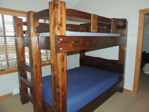 Hand crafted Timber bunk beds in Fanny bay Comox / Courtenay / Cumberland Comox Valley Area image 3