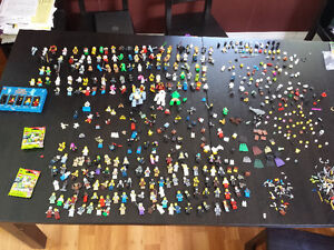 Over 200 Complete Lego Mini Figures, Plus Parts and Accessories
