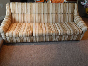 RETRO COUCH & TWO MATCHING CHAIRS