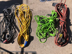 Job lot of 5 extension cords
